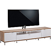 Alphason Chaplin 2000 Cantilever Stand for TVs up to 65 inch - Oak and White