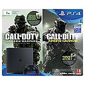 PS4 Slim 1TB Call of Duty: Infinite Warfare (also includes Modern Warfare Remastered) Console Bundle (D Chassis)