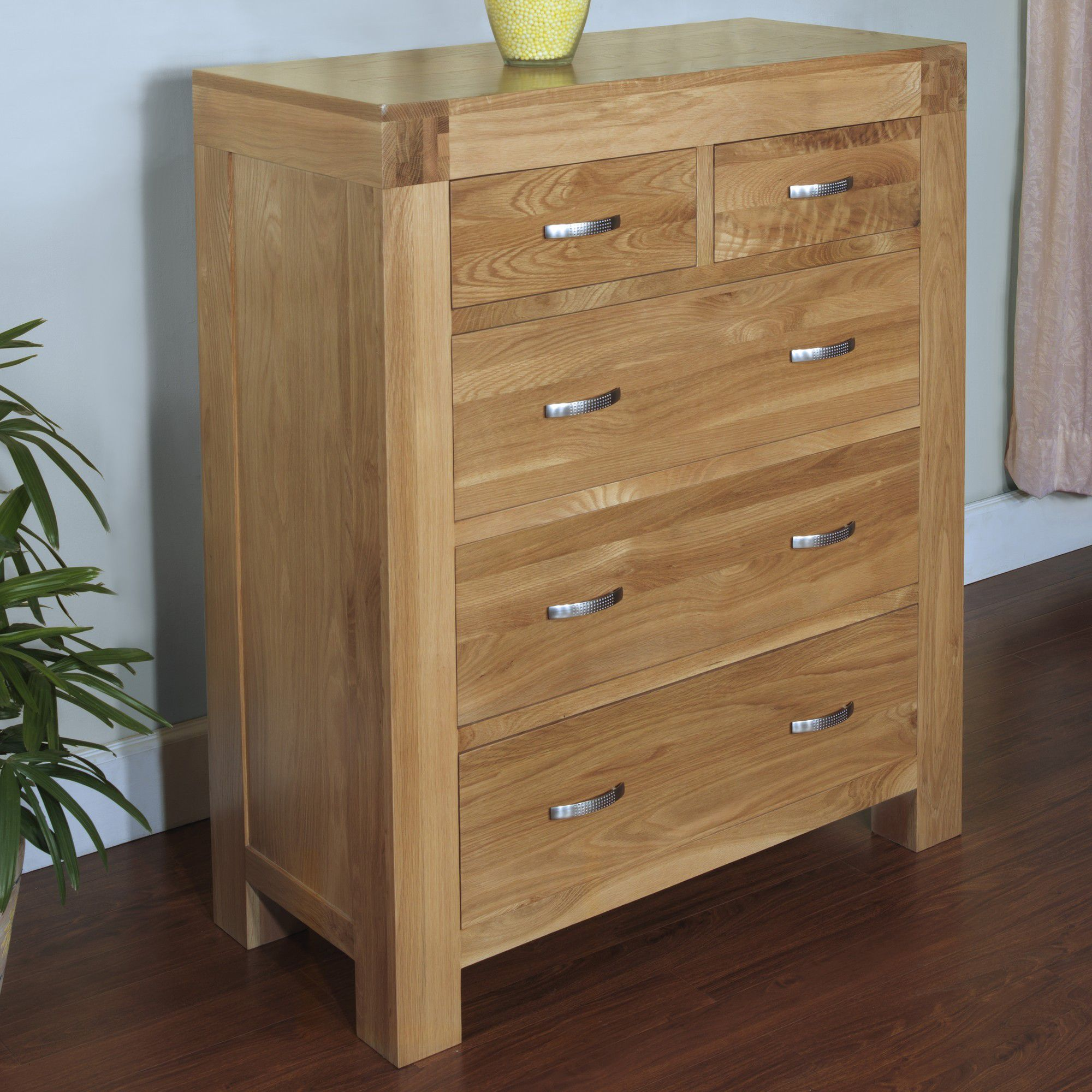 Hawkshead Rustic Oak Blonde 2 Over 3 Chest of Drawers at Tesco Direct