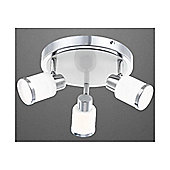 Home Essence Platoon 3 Light Ceiling Spotlight in Chrome