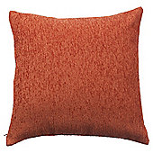 Tesco Chenille Terracotta Cushion