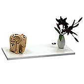 Block - Wall Mounted Storage Shelf With Contrast Edge -white/silver