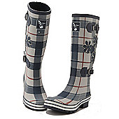 Evercreatures Ladies St George Funky Wellies Tartan Pattern 4