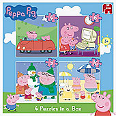 Peppa Pig 4in1 Jigsaw Puzzles in a Box 46916 Pieces