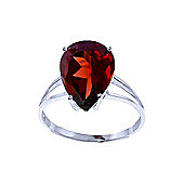 QP Jewellers 5.0ct Garnet Pear Drop Ring in 14K White Gold