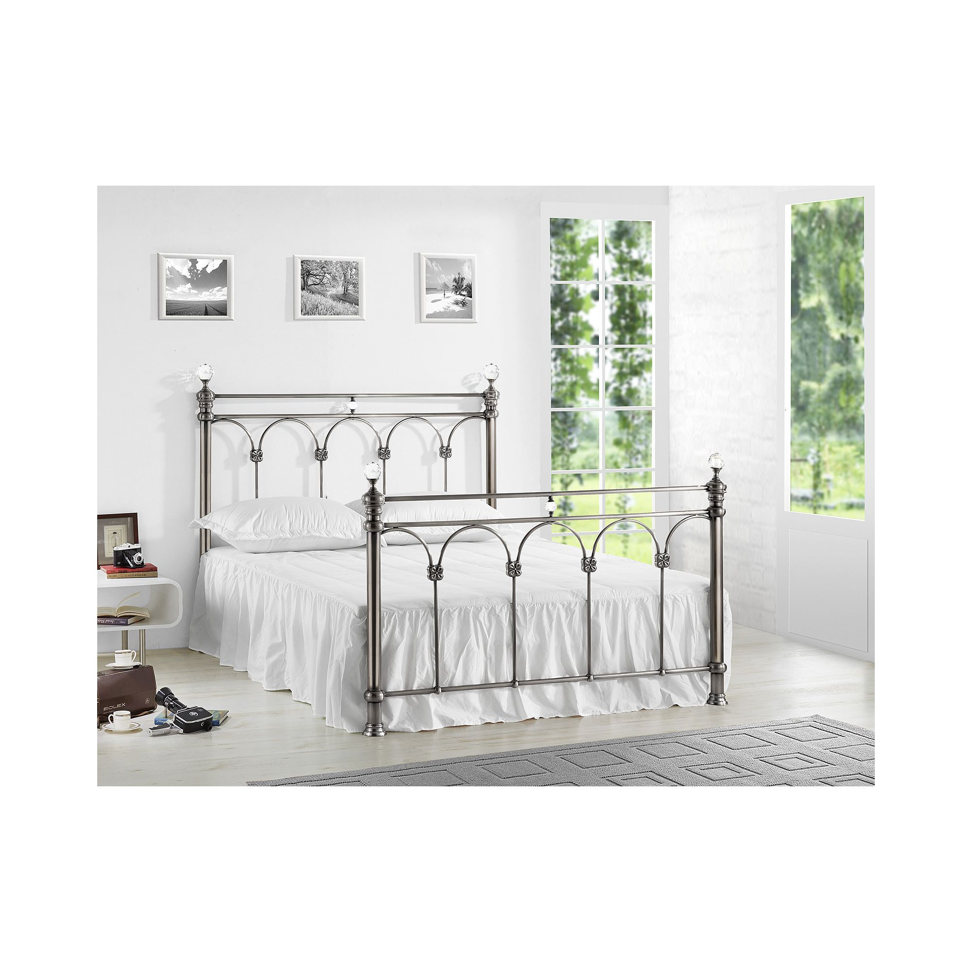 Birlea Shangai Bed Frame - King - Nickel at Tesco Direct