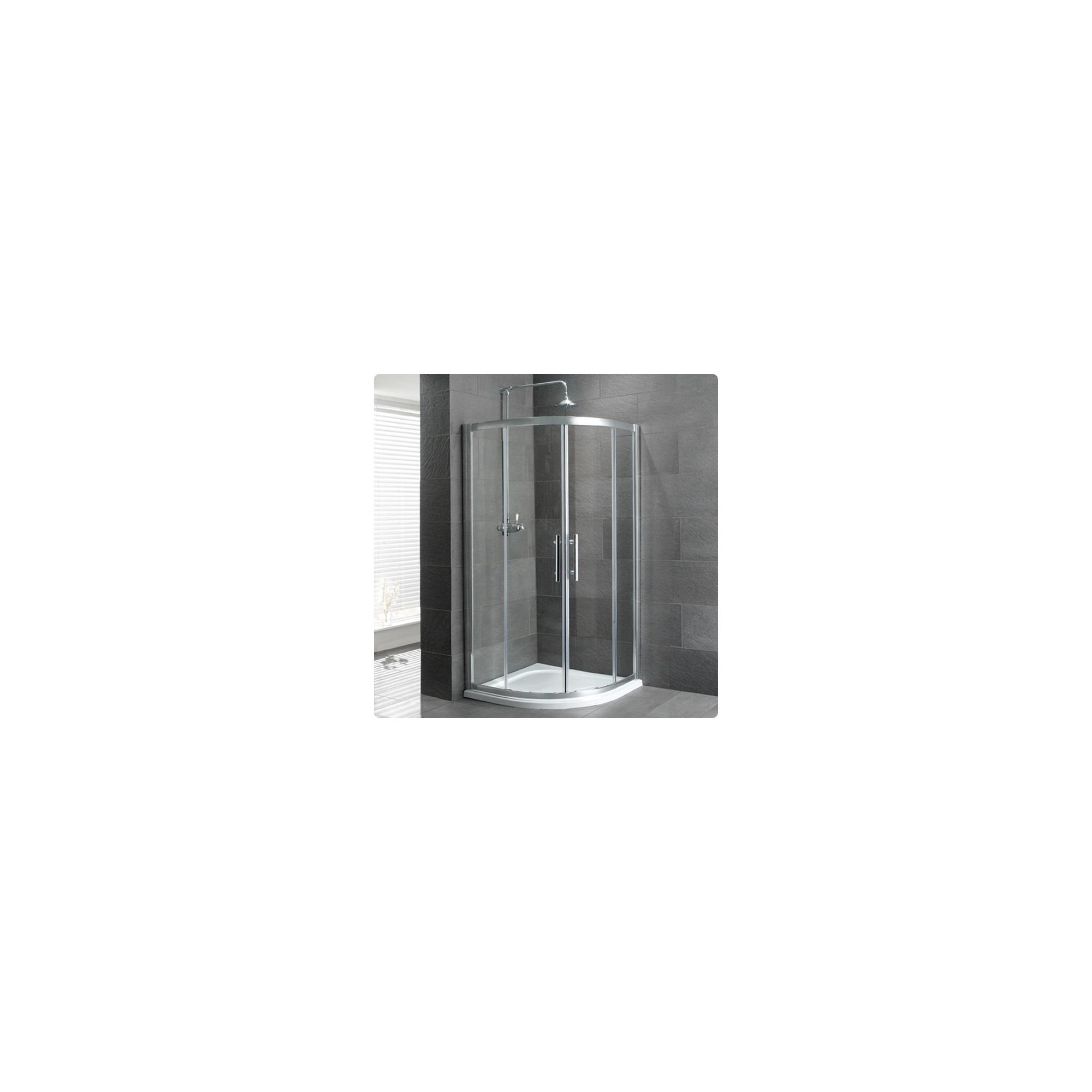 Duchy Select Silver 2 Door Quadrant Shower Enclosure 900mm, Standard Tray, 6mm Glass at Tesco Direct