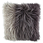 Ombre Shaggy Faux Fur Cushion