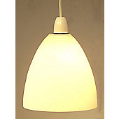 Loxton Lighting 1 Light Dome Glass Lamp Shade - Matt Opal