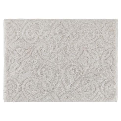 buy tesco sculptured white bath mat from our bath mats. Black Bedroom Furniture Sets. Home Design Ideas