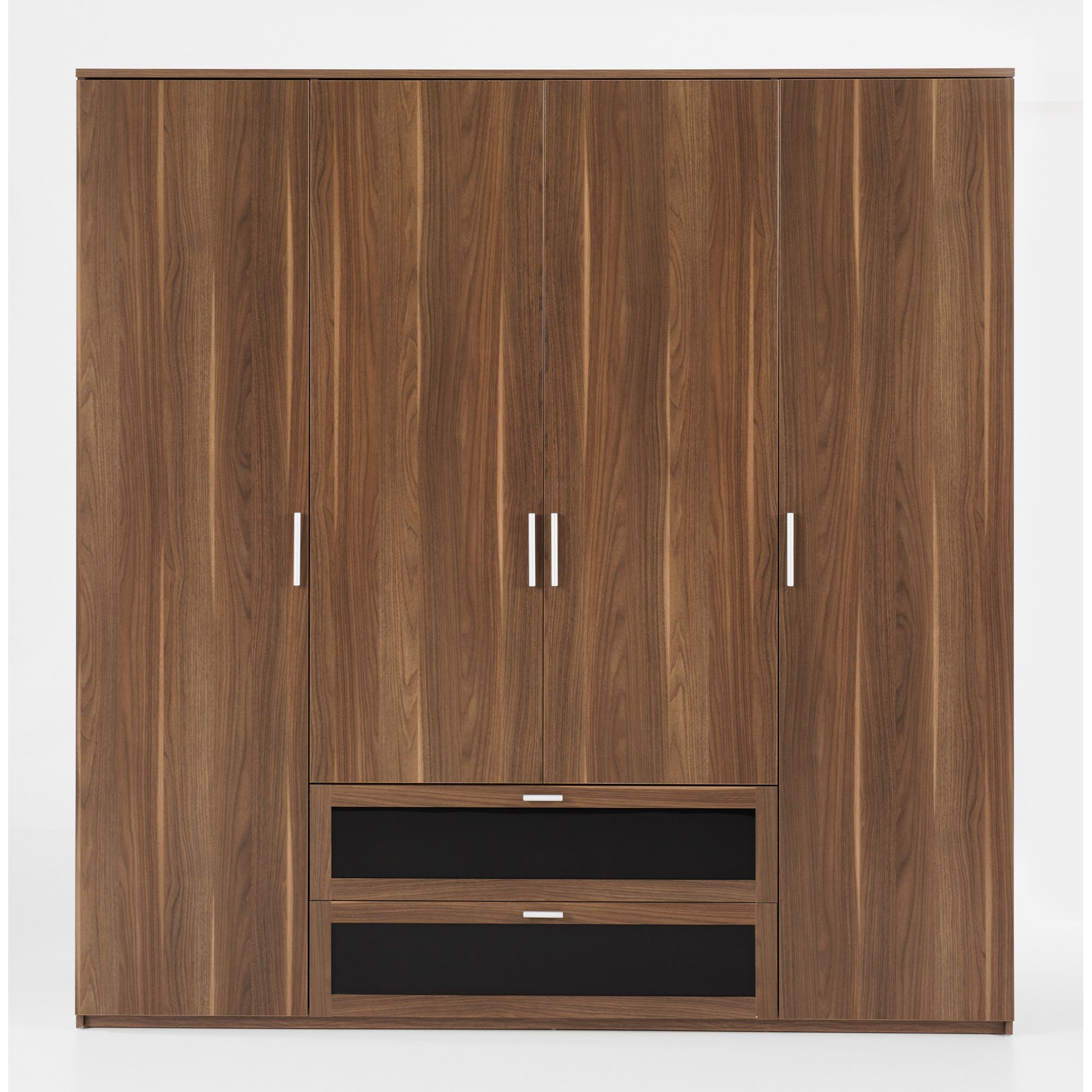 Tvilum New York 4 Door Wardrobe - Dark Walnut at Tesco Direct
