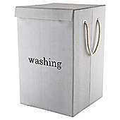 Tesco Washing Laundry Basket, Grey