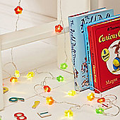 30 Multi Coloured Flower Battery LED Fairy Lights