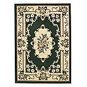 Think Rugs Marrakesh Dark Green/Beige Rug - 60 cm x 105 cm (2 ft x 3 ft 6 in)