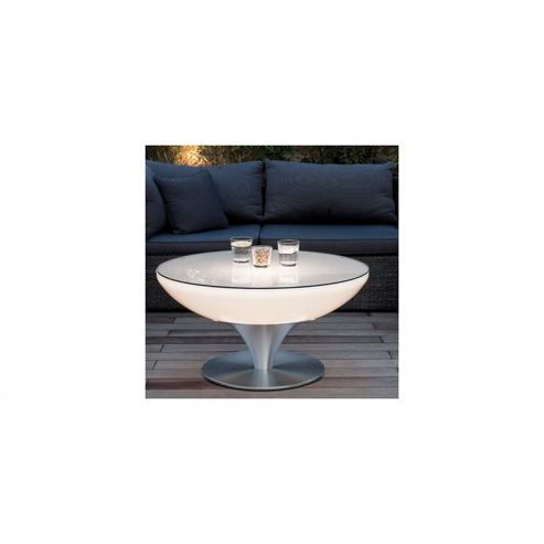 buy moree lounge outdoor round aluminium coffee table with led lighting 105 cm h x 84 cm w x. Black Bedroom Furniture Sets. Home Design Ideas