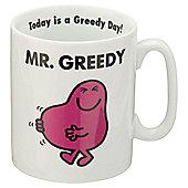 Mr Men Mr Greedy Porcelain Mug