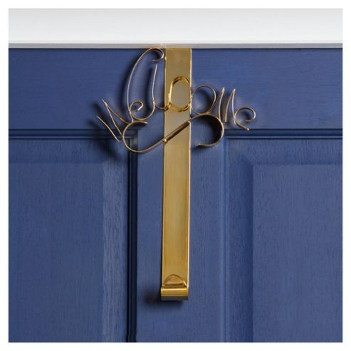 Festive Gold Wreath Door Hanger