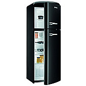 Gorenje RF60309OBK Retro Freestanding Fridge with Top Mount Freezer in Black