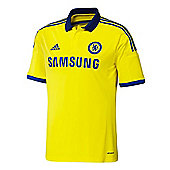2014-15 Chelsea Adidas Away Football Shirt (Kids) - Yellow