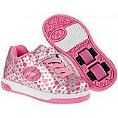 NEW Heelys Dual Up X2 Girls/Boys Roller Skating Trainer Choose Colour JNR 11-UK3 - Silver