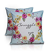 Pair of Appletree Rycott Snuggle Up Cushions - 43x43cm