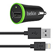 Belkin Micro Car Charger 2.1 Amp with Removable Charge / Sync Lighning Cable for Apple iPhone/ iPad