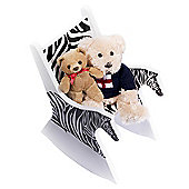 Fairytale Furniture Ziggy the Zebra Doll Sized Toy Chair