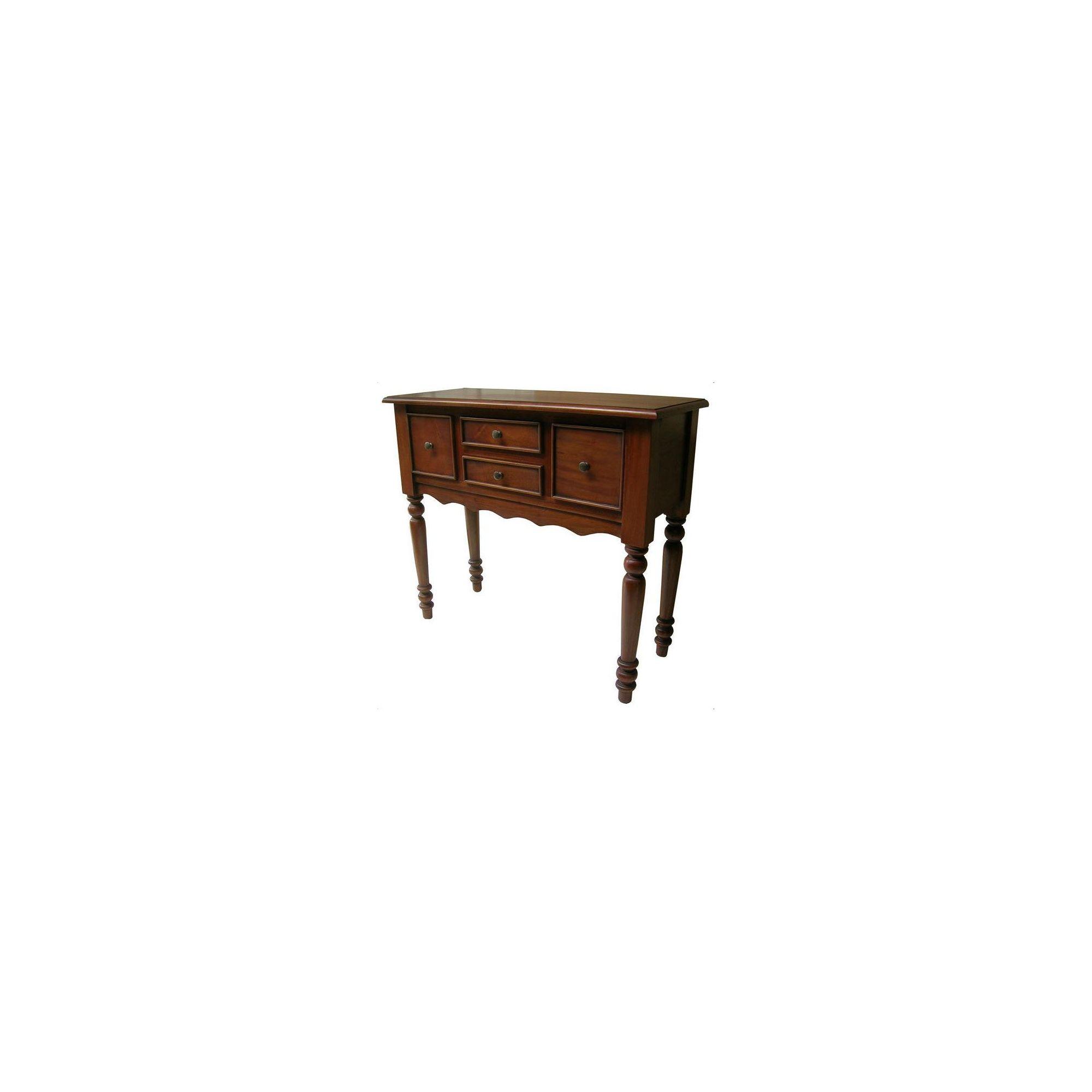 Lock stock and barrel Mahogany Victorian 4 Drawer Hall Table in Mahogany at Tesco Direct