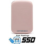 Hyundai HS2 Series 60GB SSD External USB3 Solid State Drive - Pink Flamingo