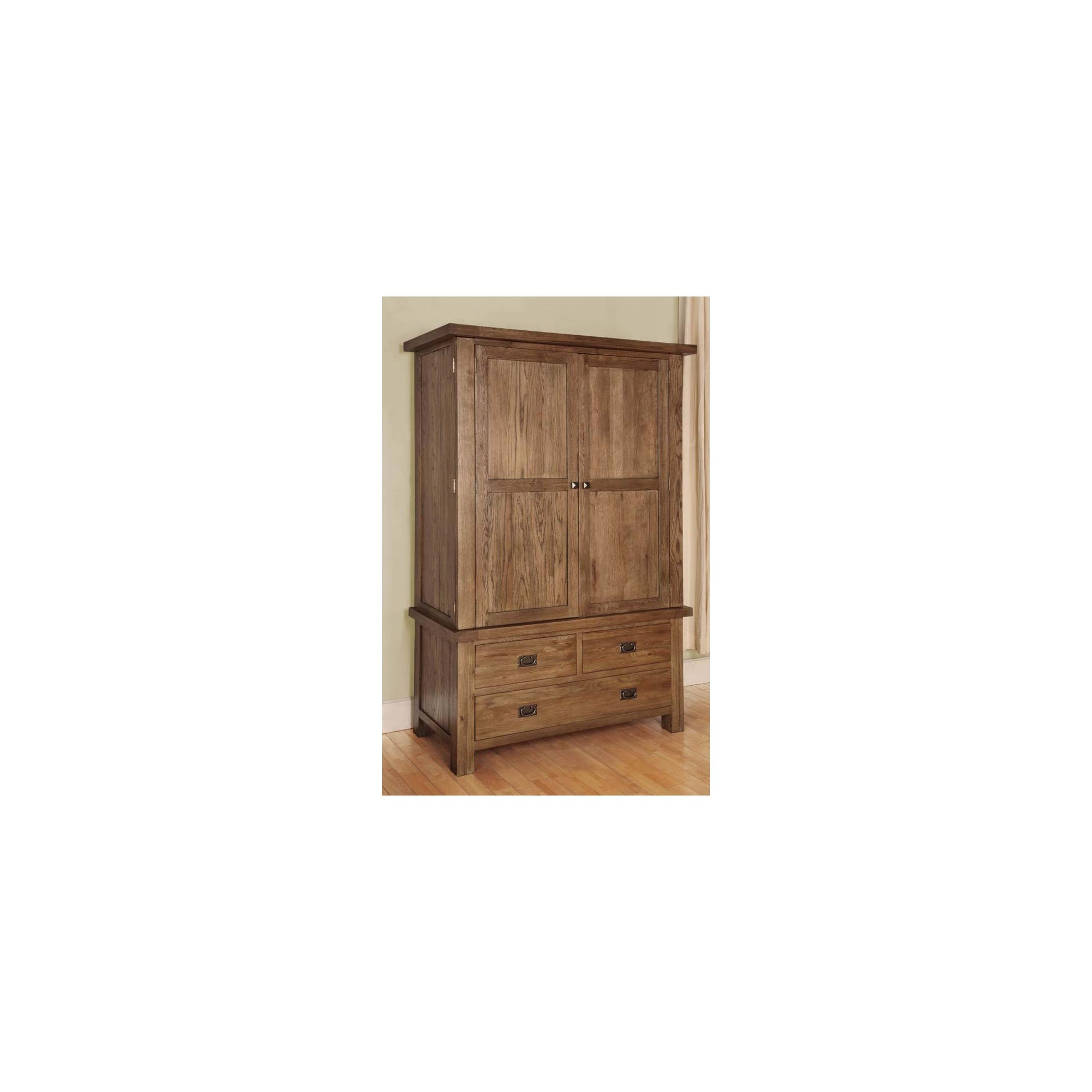 Hawkshead Brooklyn Double Wardrobe in Rich Patina at Tescos Direct