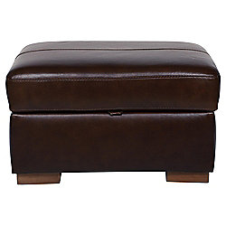 Idaho Storage Footstool Antique Chocolate