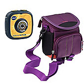 Navitech Purple Portable Carrying Case and Travel Bag for the VTech KidiZoom Action Cam