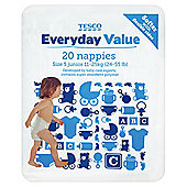 Tesco Everyday Value Nappies Junior 20
