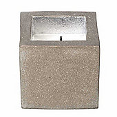 Parlane Large Pretty Square Candle Cube In Grey