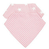Baroo Fashion Bibs Pack of 2 (Pale Pink Spots and Stars)