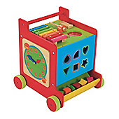 Mothercare Safari Wooden Push Along Activity Cube