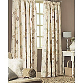 Dreams and Drapes Rosemont 3 Pencil Pleat Lined Half Panama Curtains 90x90 inches (228x228cm) - Natural