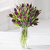 Simply Tulips Purple Bouquet