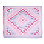 Woven Magic Trip Around The World Pink Lilac Crib Throw