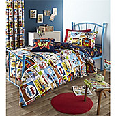 Catherine Lansfield Home Kids Comic Strip Multi Coloured Single Cotton rich Fitted Sheet