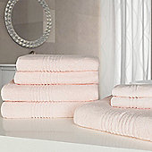 Highams Luxury Egyptian Cotton Towel Bale 7 Piece - Pink
