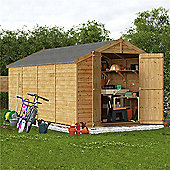 BillyOh Keeper Overlap Apex Wooden Garden Shed - 16 x 8 Windowless