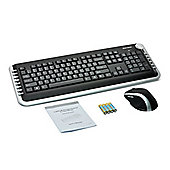 Gear Head KBL5925W 2.4 GHz Wireless Multimedia Keyboard With Laser Scroll Mouse