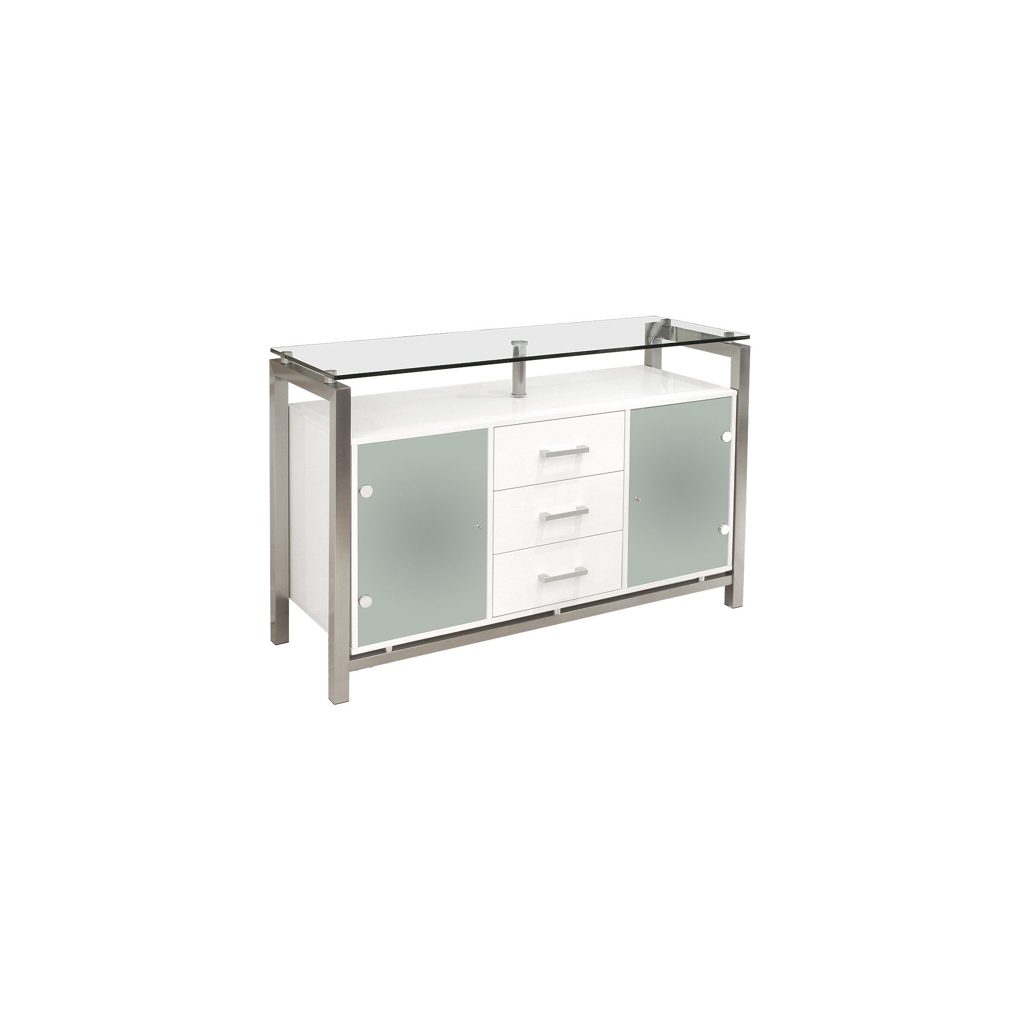 Home Essence 3 Drawer Display Cabinet - White at Tesco Direct
