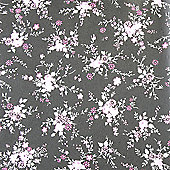 Decopatch Sheet ref. 565 Small Floral Pink/Black
