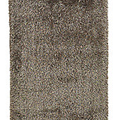 Think Rugs Monte Carlo Beige Shaggy Rug - 145 cm x 220 cm (4 ft 9 in x 7 ft 3 in)