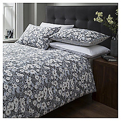Cotton Rich Vintage Floral Print Single Duvet Set