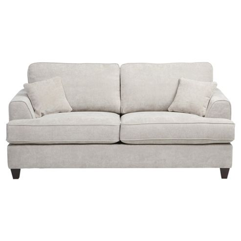 Buy hampton fabric sofa bed light grey from our sofa beds for Sofa bed tesco