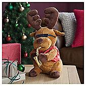 Tesco Reindeer Playing Saxophone