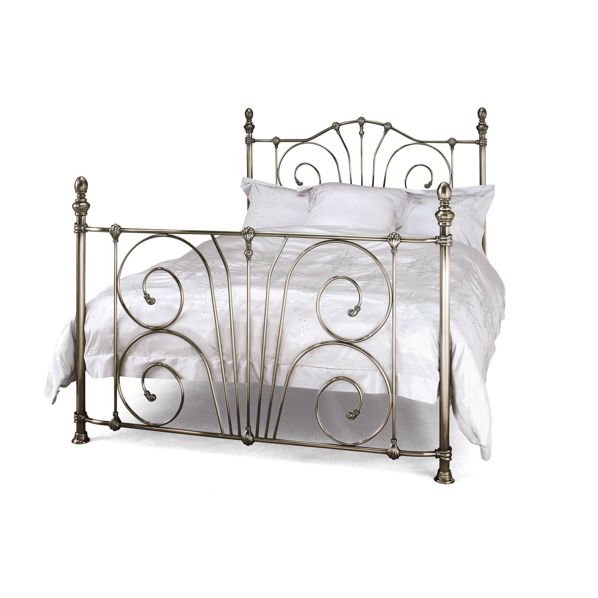 Serene Furnishings Jessica Bed Frame - King - Antique Nickel at Tesco Direct